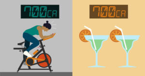 drawing-of-a-person-cycling-next-to-two-drinks
